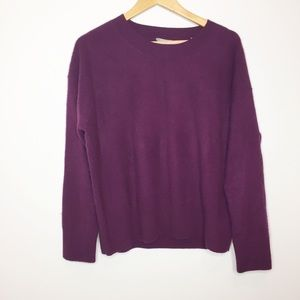 Vince cashmere sweater boxey eggplant  Size Large